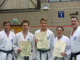 Two new 4th Dan Black Belts